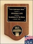 American Walnut Plaque with Medallion Plaques with Mounts Made in the USA