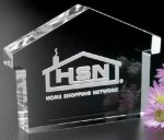 House Paper Weight Premium Crystal Awards