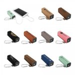 Leatherette 2200 mAh Power Bank with USB Cord Promotional Items