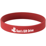 Laserable Silicone Bracelet - Red/White  Promotional Items