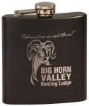Flask - Stainless Steel - Matte Black Promotional Items