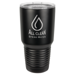 30 Oz Black Coated Ringneck Tumbler with Lid Promotional Items