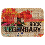 Burlap Rectangle Sublimatable Patch with Adhesive   Promotional Items