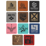 Square Laserable Leatherette Patch with Adhesive -3 Promotional Items