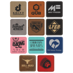 Square Laserable Leatherette Patch with Adhesive    Promotional Items