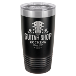20 Oz Black & Silver Coated Ringneck Tumbler with Lid Promotional Items