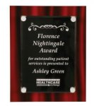 Red Velvet Floating Acrylic Plaque Red Colored Acrylic Awards