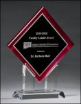 Diamond Series Acrylic with Stand - Red Red Colored Acrylic Awards