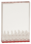 Mirage Faceted Rectangle Acrylic Award - Red Red Colored Acrylic Awards