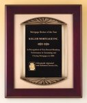 Rosewood Piano Finish Plaque Cast Frame Relief Cast Plaques
