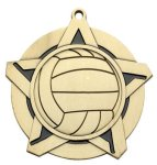 Volleyball Super Star Medal Religion