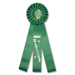 Honorable Mention - Classic Three Streamer Rosette Award Ribbon Rosette Ribbons - Three Streamer