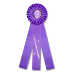 Participant - Classic Three Streamer Rosette Award Ribbon Rosette Ribbons - Three Streamer