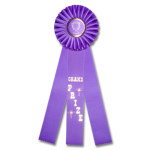 Grand Prize - Classic Three Streamer Rosette Award Ribbon Rosette Ribbons - Three Streamer