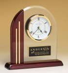 Clock with Rosewood Piano Finish Post and Base Rosewood Clocks