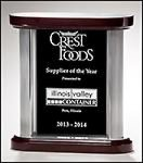 Black Glass with Silver Alum Post Rosewood Glass Awards