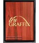 Tru Graffix Wood Grain and Black Piano Finish Plaque      Sales