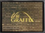 Tru Graffix Black Brick and Black Piano Finish Plaque    Sales