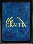Tru Graffix Blue Vapor and Black Piano Finish Plaque     Sales