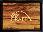 Tru Graffix Barnwood and Black Piano Finish Plaque   Sales