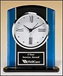 Black and Blue Glass Desk Clock Sales
