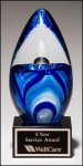 Art Glass Egg on Black Base Sales