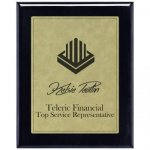 Leatherette Light Brown Plate and Black Piano Finish Plaque Sales
