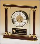 Glass and Rosewood Piano Finish Clock Sales