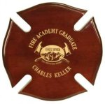 Rosewood Maltese Cross Shield Plaques
