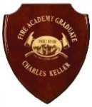 Rosewood Shield Plaque Shield Plaques