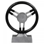 Car Show - Steering Wheel with Insert  Award Silver Sculpture Resin Awards