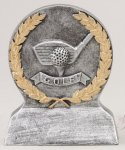 Longest Drive - Silver and Gold Resin Silver Sculpture Resin Awards