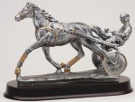 Harness Racing, Sulke - Silver Sculpture Resin Silver Sculpture Resin Awards