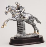 Jumping Horse (Female) - Silver Sculpture Resin Silver Sculpture Resin Awards