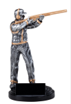 Shooting (Male) - Trap Shooter Silver Sculpture Resin Awards