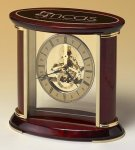 Skeleton Clock with Brass and Rosewood Piano Finish Skeleton Clocks