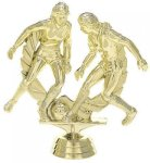 Double Action Soccer/Futbol - Female on Round Base Soccer and Futbol