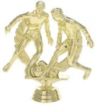 Double Action Soccer/Futbol - Male on Round Base Soccer/Futbol Award Trophies