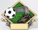 Soccer/Futball - Diamond Plate Resin Trophy Soccer/Futbol Award Trophies