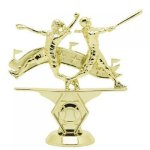 Double Action Softball - Female on Marble Base Softball Award Trophies