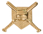 Crossed Bats - Chenille Pin Softball Medals