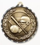 Diamond Cut Medal - Baseball/Softball Softball Medals