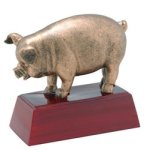 Pig - Gold Mascot Resin Spirit / Mascots