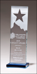 Star and Mountain Glass Award Square Rectangle Awards