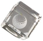 Cube Paperweight - Optical Crystal Square Rectangle Awards