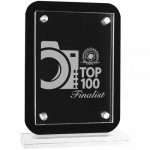 Floating Glass Standup Plaque Square Rectangle Awards