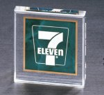 Marble Center Square Acrylic - Emerald Square Rectangle Awards