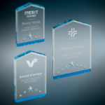 Star Point Acrylic Award - Blue Star Awards
