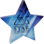 Full Color Acrylic Star Paperweight Star Awards