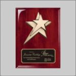 Rosewood Piano Finish Plaque with Star Casting Star Awards